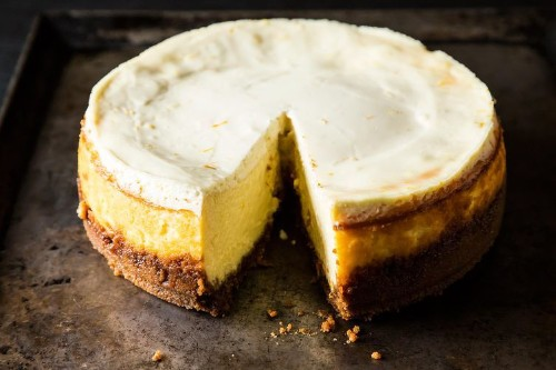 Meyer Lemon Cheesecake with BiscoffCrust