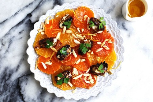Citrus Salad with Goat Cheese-Stuffed Dates