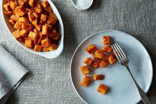 Sweet Potatoes Roasted in CoconutOil