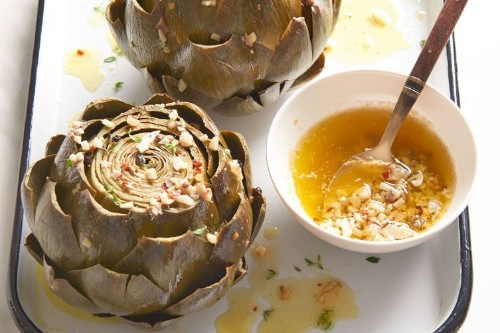 Slow-Cooker Lemon-Thyme Steamed Artichokes