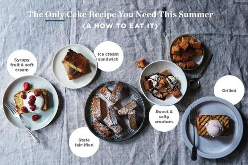 Summer Sour Cream Pound Cake Recipe