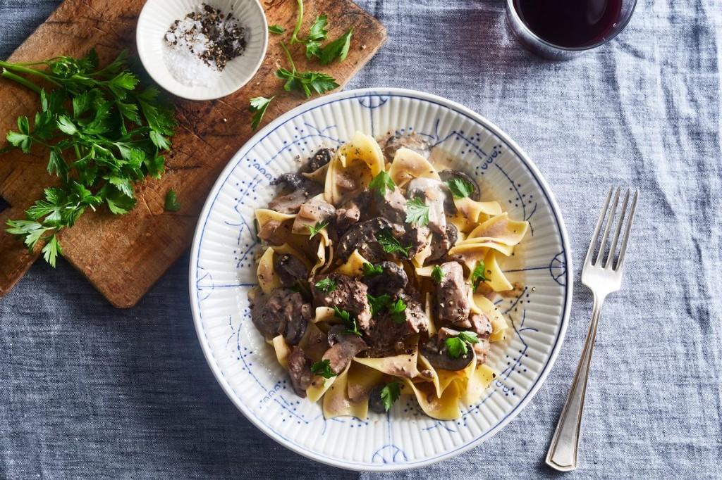 Slow-Cooker Beef Stroganoff With Mushrooms