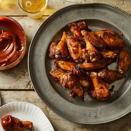 Dry-Rubbed Chicken Wings With Barbecue Sauce Recipe on Food52