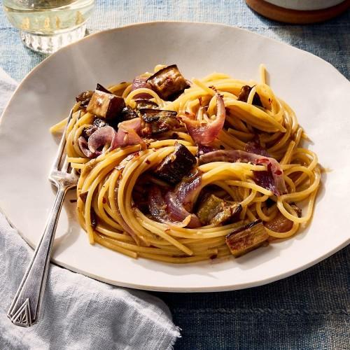 Easy Eggplant Spaghetti Recipe With Miso Sauce
