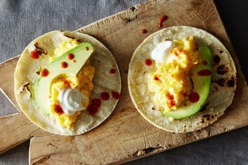 Scrambled Egg Tacos withAvocado