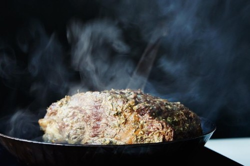 Lynne Curry's Prime Rib with Mustard and HerbButter