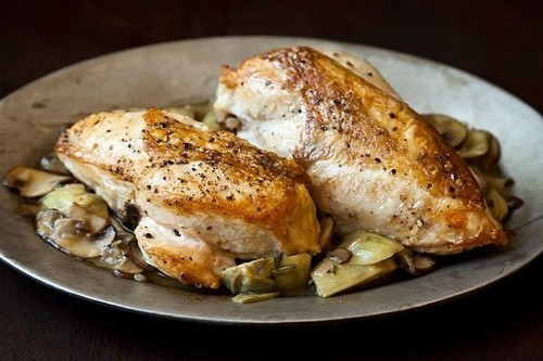 Roast Chicken Breasts With Mushrooms & Artichoke Hearts Recipe on Food52