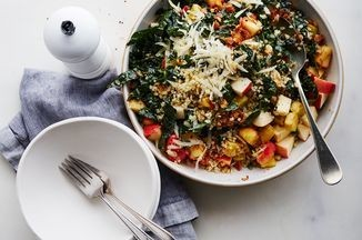 Kale & Bulgur Salad with Brown Butter Apple Vinaigrette Recipe on Food52