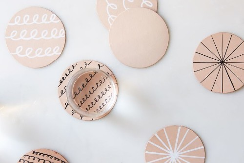 A Cut-Out, Doodle-able Leather Coaster DIY for theCraft-Averse