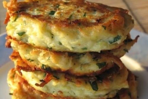 Young Zucchini-Farmer Cheese or RicottaPancakes