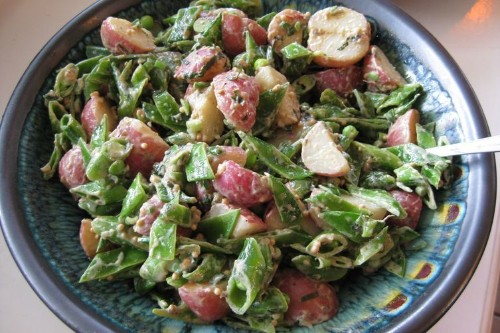 New Potato and Pea Salad with Mustard andMint