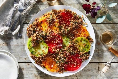 Crispy Farro and Tomato Salad Recipe on Food52