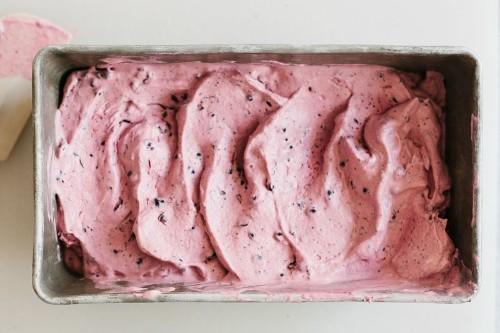 How to Make Lemon, Blackberry, and Poppy Seed Ice Cream
