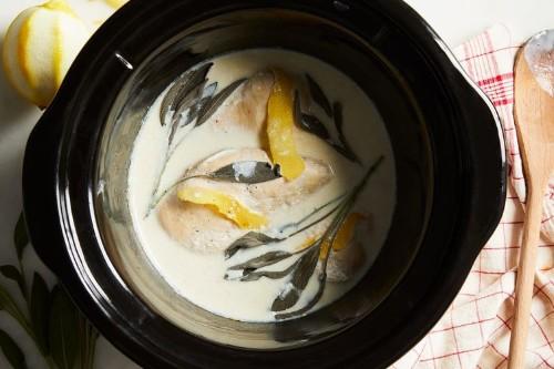 Slow-Cooker Chicken Breasts With Lemon, Sage &Milk