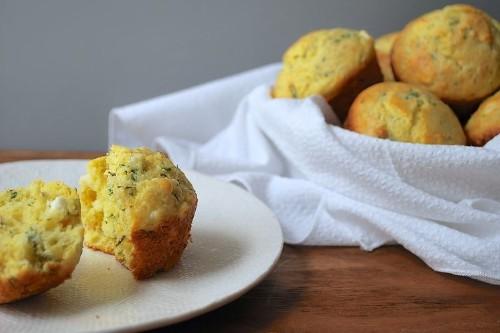 Cheesy Herbed CornMuffins