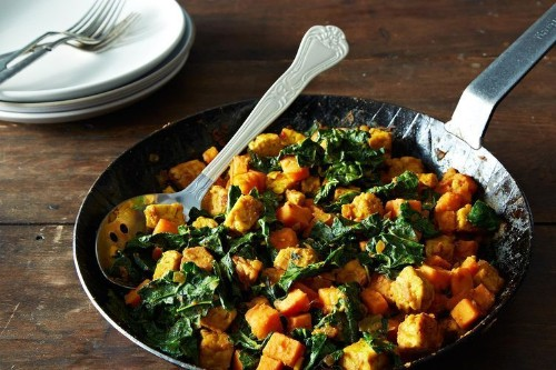 Vegan Breakfast Recipe -- Thanksgiving Leftovers