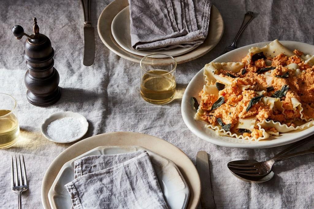 Sweet Potato, Goat Cheese, & Sage Pasta Pile-Up