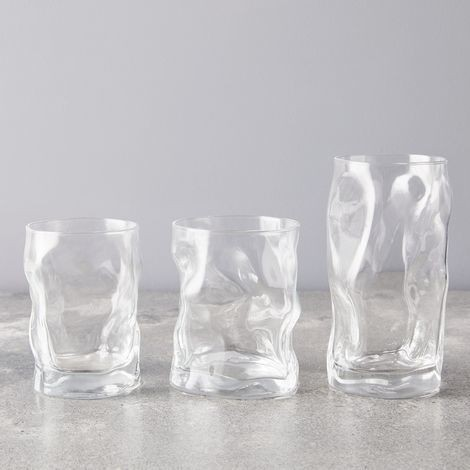 Five Two Stackable Glassware, Made in Italy, Vintage inspired design, Wine, Cocktail, Dessert, Vase, Flowers, Yogurt, Water, Juice, Tempered Glass, Italian Glass, Wine Glass, Tumbler, Water Glass, Cocktail Glass on Food52