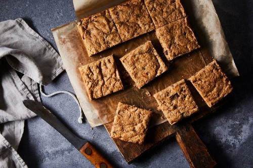 The Peanut Butter-Banana Blondie We Can't LiveWithout
