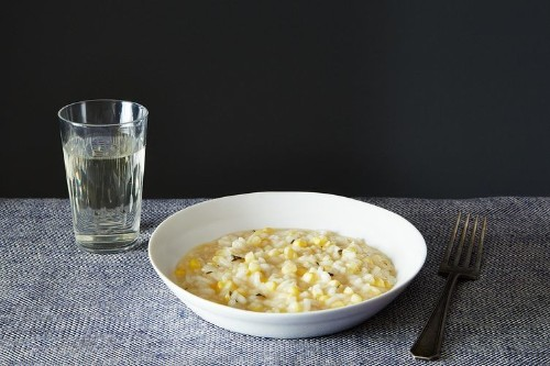 Summer Corn Risotto in Sweet Corn Broth Recipe on Food52