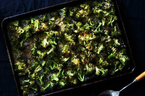 Blissed-Out Crispy Cheesy Broccoli Sheet Pan Gratin Recipe on Food52