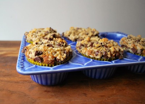 Chocolate Streusel Banana Muffins Recipe