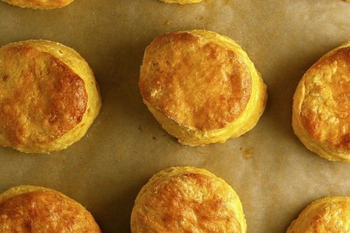 Sweet Potato Biscuits with Honey Goat CheeseButter