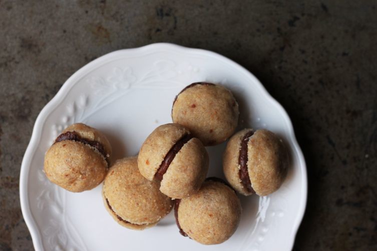 Baci di Dama (Chocolate-Filled Hazelnut Cookies)