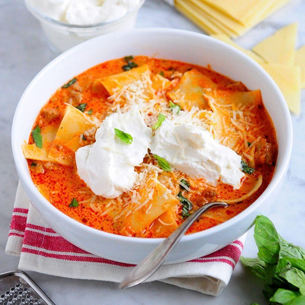 Tomato-Basil Lasagna Soup Recipe on Food52