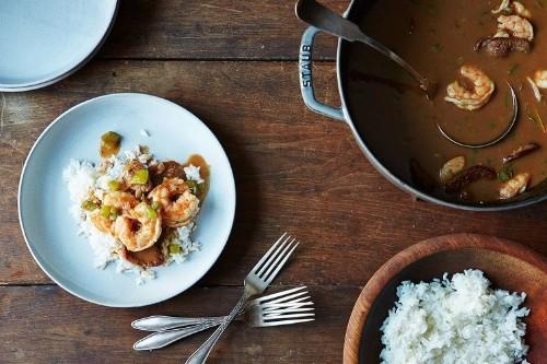Alton Brown's ShrimpGumbo