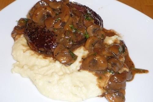 Succulent Ribeye Steak with Mushroom MarsalaSauce