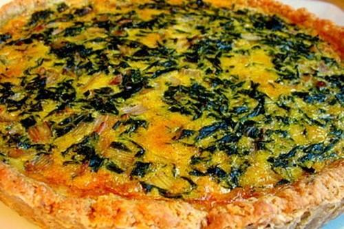 Rainbow Chard Tart in a Chestnut Crust Recipe on Food52