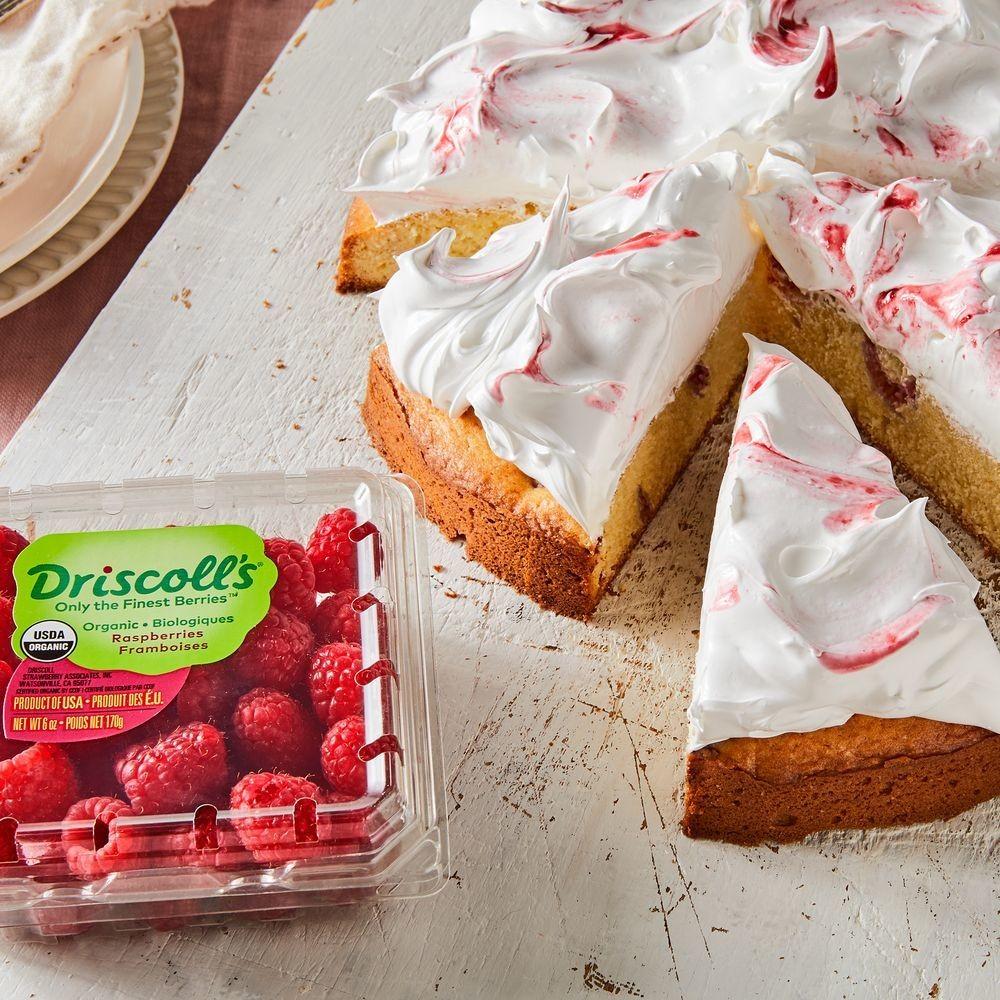 Easy Raspberry Cake With Meringue Frosting Recipe