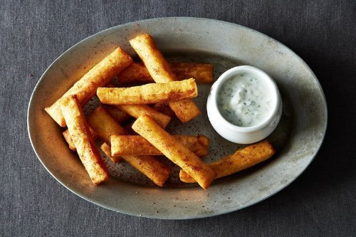 Chickpea Fries with Yogurt Dipping Sauce Recipe