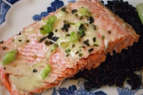 Salmon with Wasabi-CremeFraiche