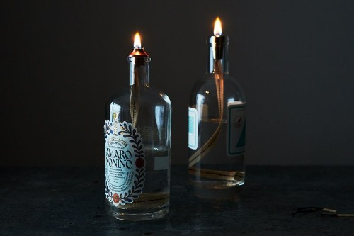 A Centuries-Old Way to Turn Booze Bottles into MoodLighting