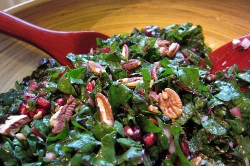 Happy Holidays Chard Salad Recipe on Food52