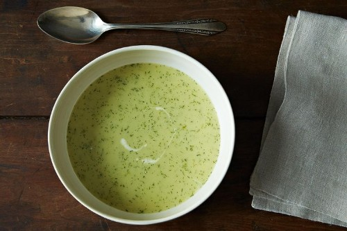 Dinner Tonight: Celery Soup + Anchovy Butter Toast -- Menu Ideas