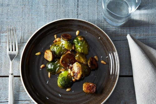 Brussels Sprouts with Pine Nuts & Thyme
