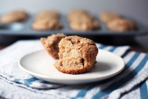 Cinnamon Apple Tahini Muffins Recipe on Food52