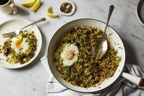 Brussels Sprouts Hash &Eggs