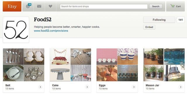 Announcing the Food52 + EtsyPartnership