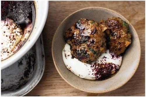 Ottolenghi's Lamb & Pistachio Patties with Sumac YogurtSauce