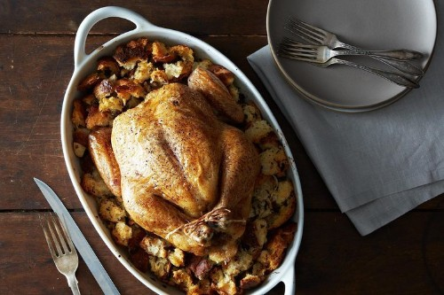 Roasted Chicken with Garlic and Bread Recipe on Food52