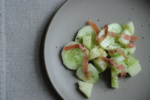 Quick-Pickled Cucumber-MelonSalad