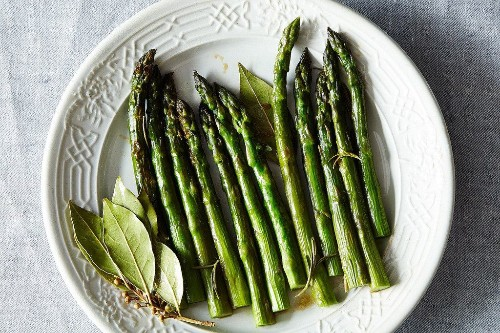 Patricia Wells' Asparagus Braised with Fresh Rosemary and BayLeaves
