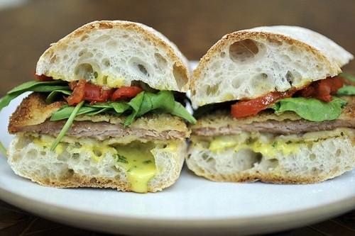 Pork Cutlet Sandwiches with BasilAioli