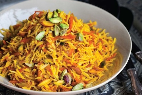 Sweet Rice with Carrots andNuts