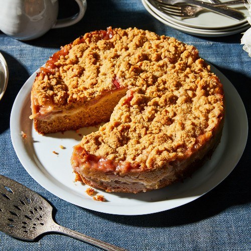 This Rhubarb-Ginger Coffee Cake Is 100% Relationship Goals