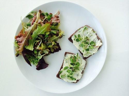 Cashew Cheese Spring Tartine - Quick Vegan Lunch Ideas